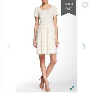 Everleigh plaid skirt shirt dress gray white